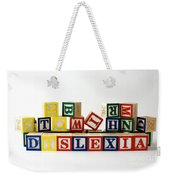 Dyslexia Weekender Tote Bag by Photo Researchers, Inc.