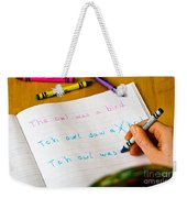 Dyslexia Testing Weekender Tote Bag by Photo Researchers Inc