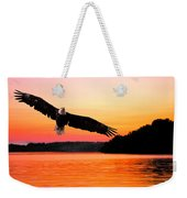 Eagle At Break Of Dawn Weekender Tote Bag