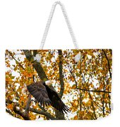 Eagle In Autumn Weekender Tote Bag