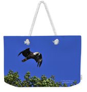 Eagle Over The Tree Top Weekender Tote Bag