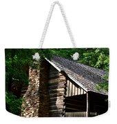 Early 19th Century Log Cabin Weekender Tote Bag