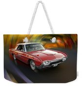 Early 60s Red Thunderbird Weekender Tote Bag