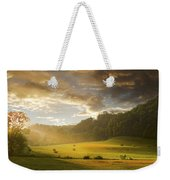 Early Am Fog And Stormey Light Weekender Tote Bag