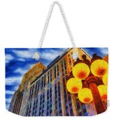 Early Evening Lights Weekender Tote Bag