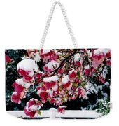 Early Magnolia Late Snow Weekender Tote Bag