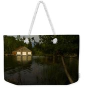 Early Morning Clam Lake Channel Weekender Tote Bag