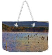Early Morning Color Of Lake Wilhelmina-arkansas Weekender Tote Bag