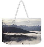Early Morning Fog Weekender Tote Bag