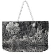 Early Morning Light Black And White Weekender Tote Bag