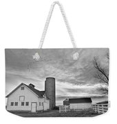 Early Morning On The Farm Bw Weekender Tote Bag