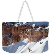 Early Morning Snow In Bryce Canyon Weekender Tote Bag