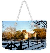 Early Snow Day Weekender Tote Bag