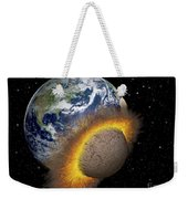 Earth Colliding With A Mars-sized Weekender Tote Bag