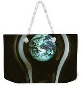 Earth In Light Bulb  Weekender Tote Bag