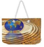 Earth In The Printed Circuit Weekender Tote Bag by Michal Boubin