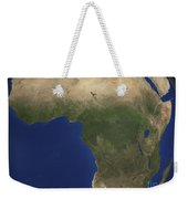 Earth Showing Landcover Over Africa Weekender Tote Bag by Stocktrek Images