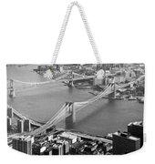 East River Bridges New York Weekender Tote Bag