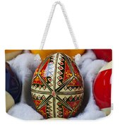 Easter Egg Among Pool Balls Weekender Tote Bag