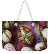 Easter Egg With Wreath Weekender Tote Bag