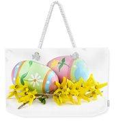 Easter Eggs Weekender Tote Bag by Elena Elisseeva