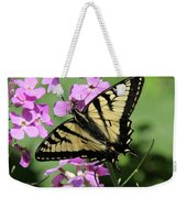 Canadian Tiger Swallowtail On Phlox Weekender Tote Bag