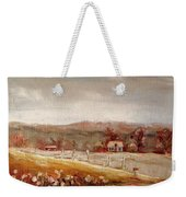 Eastern Townships Quebec Painting Weekender Tote Bag by Carole Spandau