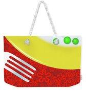 Eat Your Peas Weekender Tote Bag