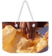Eating By Hand The Indian Delicacy Of Chole Bhature Weekender Tote Bag