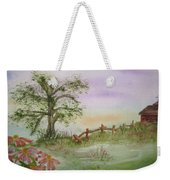 Echinacea And Crooked Fence Weekender Tote Bag