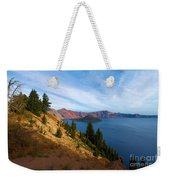 Edge Of The Crater Weekender Tote Bag