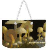 Edible Mushrooms Weekender Tote Bag