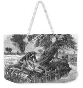 Eel Fishing, 1850 Weekender Tote Bag