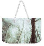 Eerie Winter Woods Weekender Tote Bag