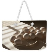 Eggs Lit Through Venetian Blinds Weekender Tote Bag