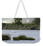 Egret Over Water Weekender Tote Bag