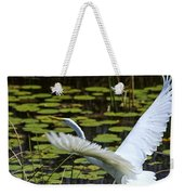 Egret Take Off Weekender Tote Bag