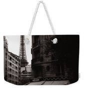 Eiffel Tower Black And White 2 Weekender Tote Bag
