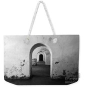 El Morro Fort Barracks Arched Doorways San Juan Puerto Rico Prints Black And White Weekender Tote Bag