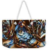 Electric Blue Weekender Tote Bag by Ron Bissett