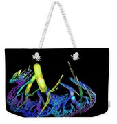 Electric Fractal Garden Weekender Tote Bag