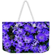 Electric Indigo Garden Weekender Tote Bag
