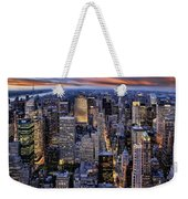 Electric Nyc Weekender Tote Bag by Kelley King