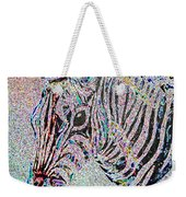 Electric Zebra Weekender Tote Bag