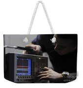 Electronics Technician Troubleshoots An Weekender Tote Bag