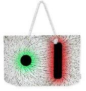 Electrostatic Field Lines Unlike Charges Weekender Tote Bag
