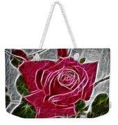 Electrostatic Rose Weekender Tote Bag