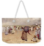 Elegant Figures On A Beach Weekender Tote Bag