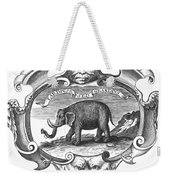 Elephant, 17th Cent Weekender Tote Bag