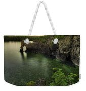 Elephant Rests In The Green Lagoon   Weekender Tote Bag